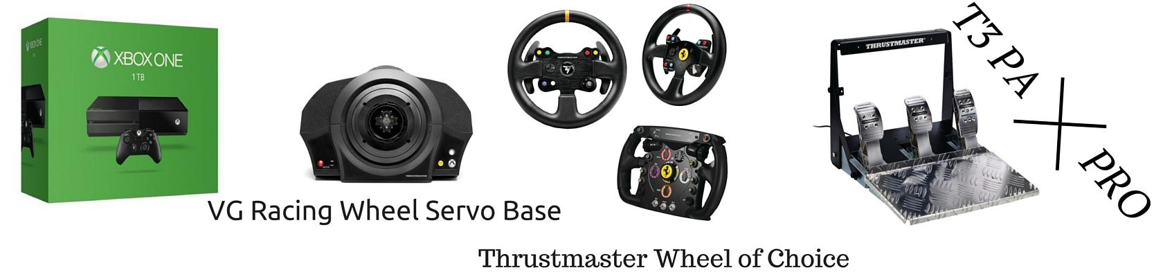 XboxOne Racing Wheel: Thrustmaster Servo, Wheel, T3PA-Pro
